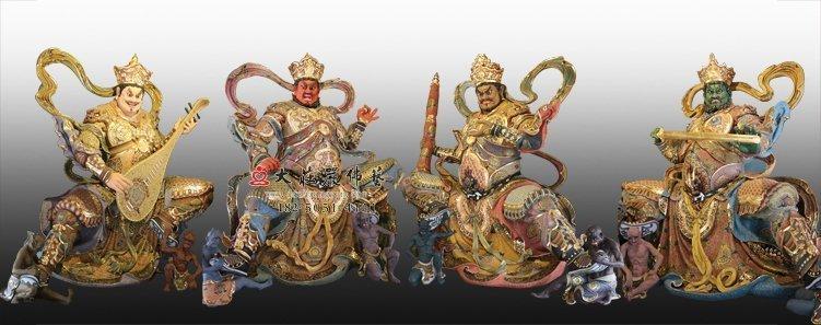 湖南哪些寺庙有供脱胎四大天王佛像?