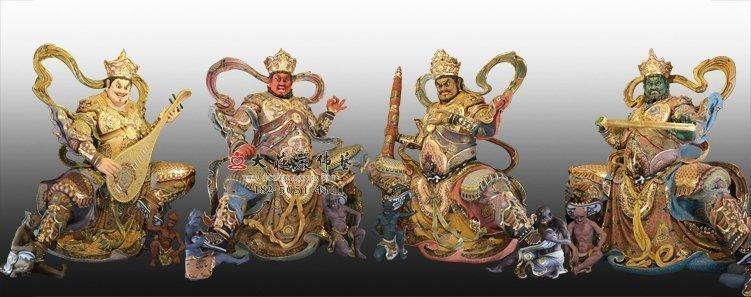 四川哪些寺庙有供脱胎四大天王佛像?