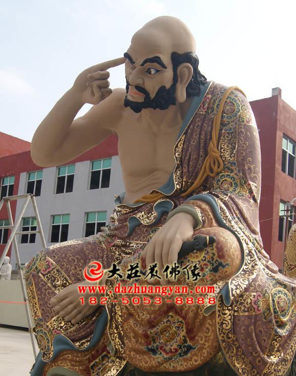 迦诺迦代蹉尊者彩绘塑像