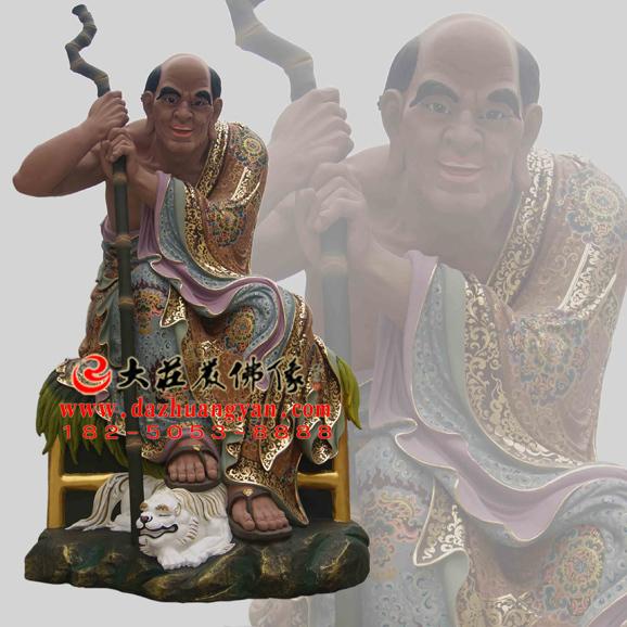 伐阇罗弗多罗尊者彩绘塑像
