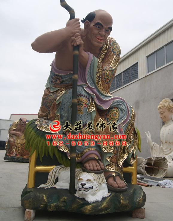 铜雕伐阇罗弗多罗尊者彩绘塑像