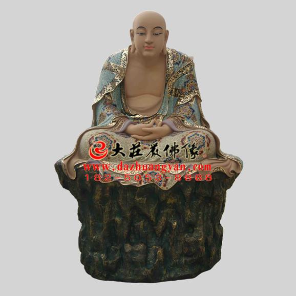 铜雕迦叶尊者彩绘塑像