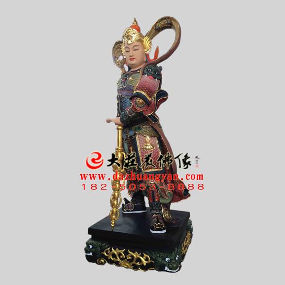 韦驮菩萨彩绘佛像
