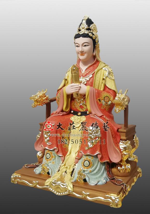 顺天圣母铜雕彩绘塑像