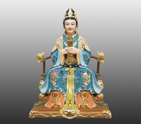 铜雕骊山老母彩绘神像