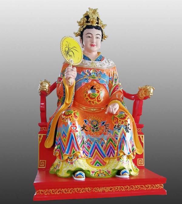 江夫人彩绘侧面塑像