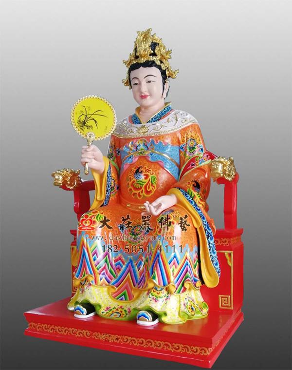 铜雕江夫人彩绘塑像