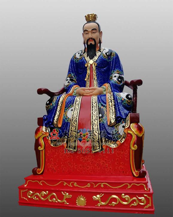 三清之元始天尊彩绘神像