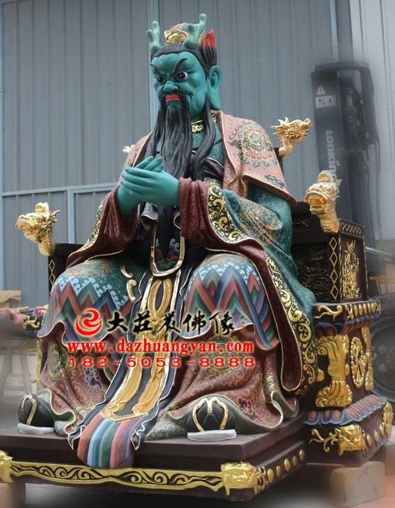 铜雕龙王彩绘神像