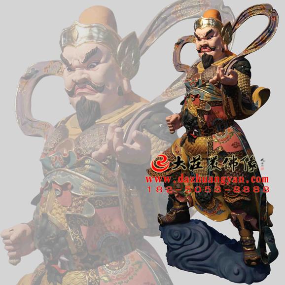 铜雕托塔李天王彩绘神像