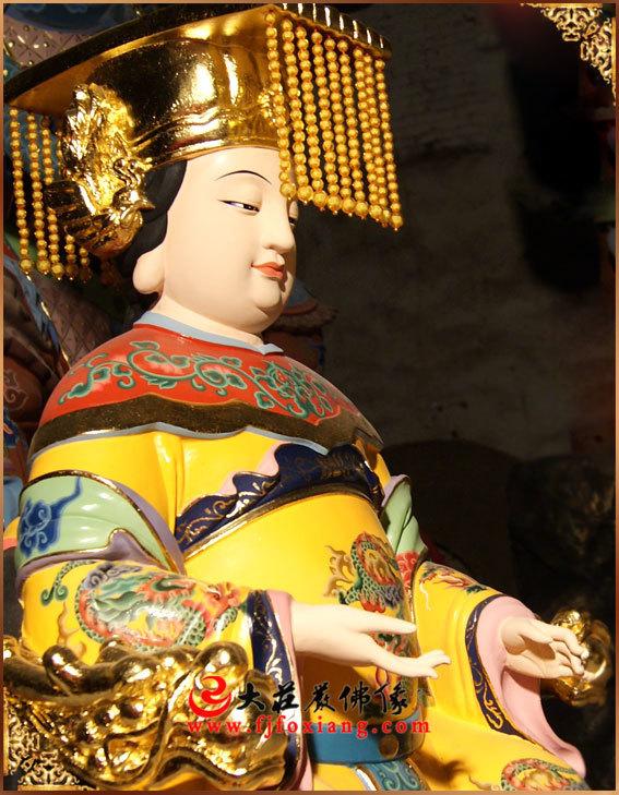 西王母彩绘神像