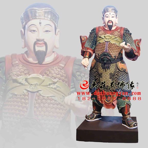 铜雕道教四大元帅彩绘神像
