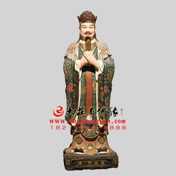 生漆脱胎观音三十二应身之梵王身彩绘塑像
