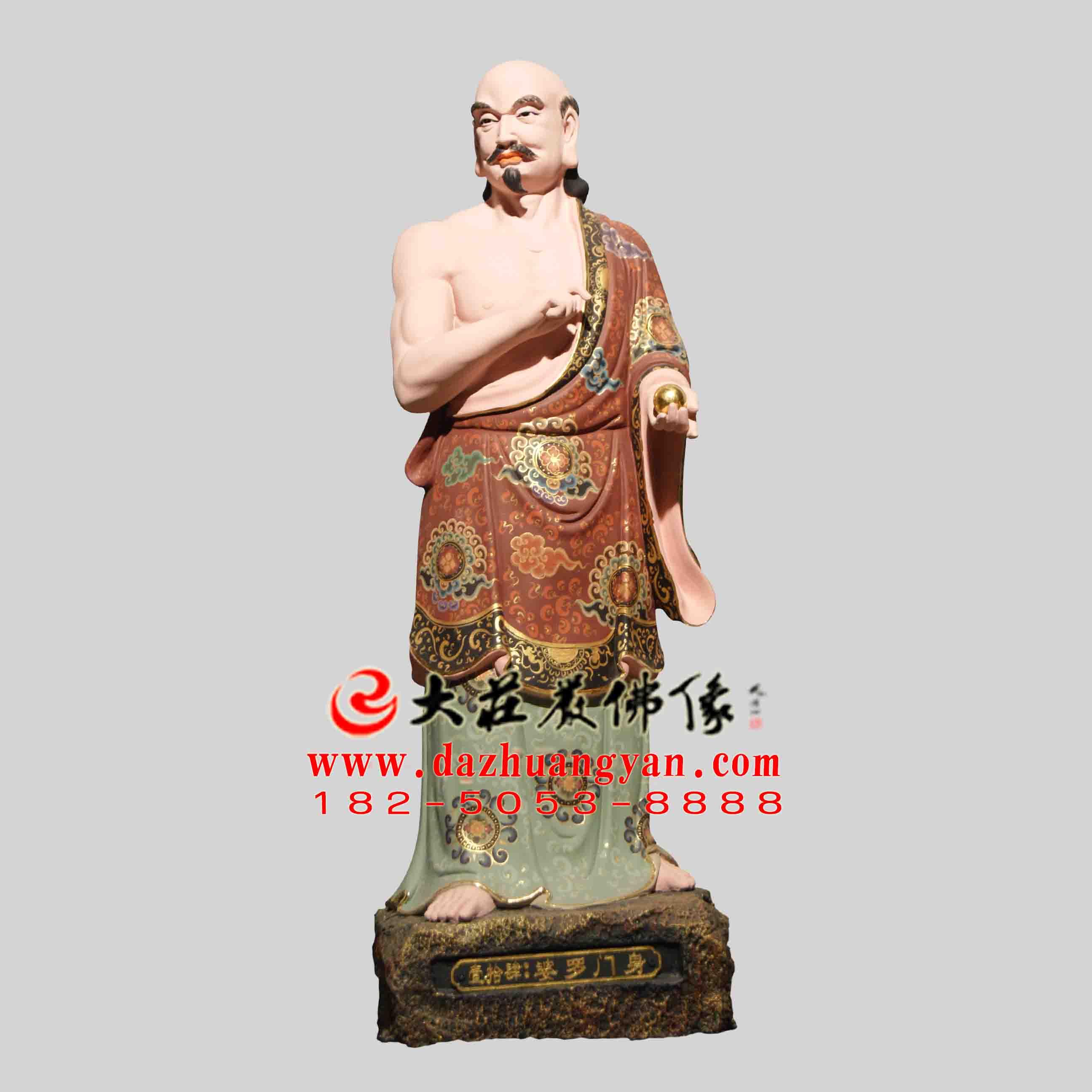 生漆脱胎观音三十二应身之婆罗门应身彩绘塑像