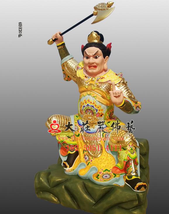 监斋菩萨彩绘塑像