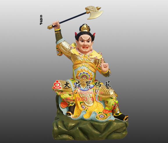铜雕监斋菩萨彩绘塑像