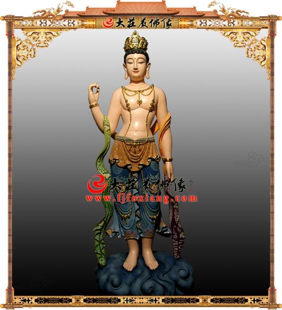 铜雕印度观音彩绘佛像
