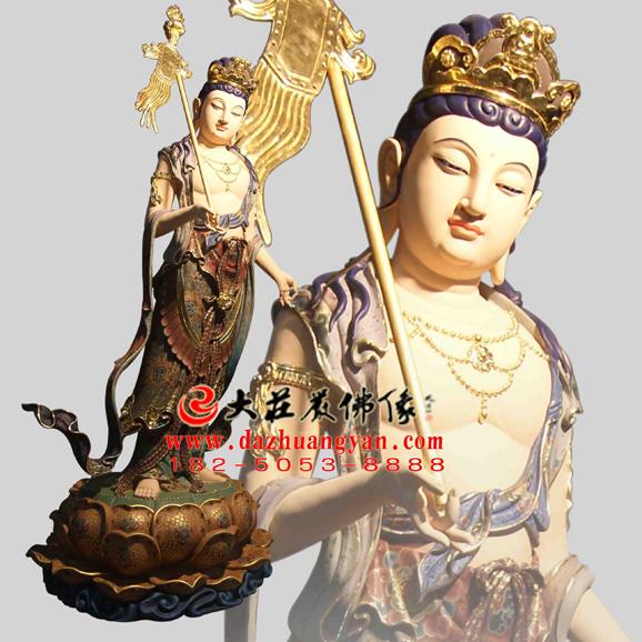 铜雕八大菩萨之除盖障菩萨彩绘佛像