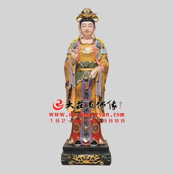 铜雕二十诸天之月宫天子彩绘塑像