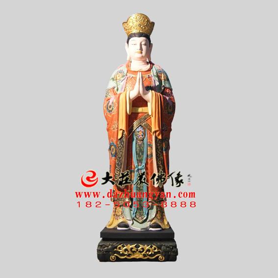 铜雕二十诸天之菩提树神彩绘塑像