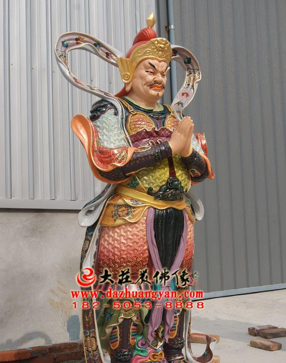二十诸天之大梵天彩绘塑像左侧照