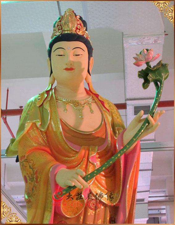 西方三圣之大势至菩萨彩绘佛像