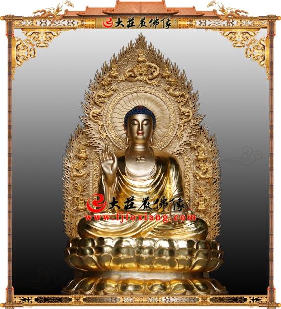 药师佛铜雕贴金塑像 东方三圣药师琉璃光如来大医王佛三宝佛佛像雕塑定制