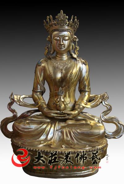 铜雕无量寿佛