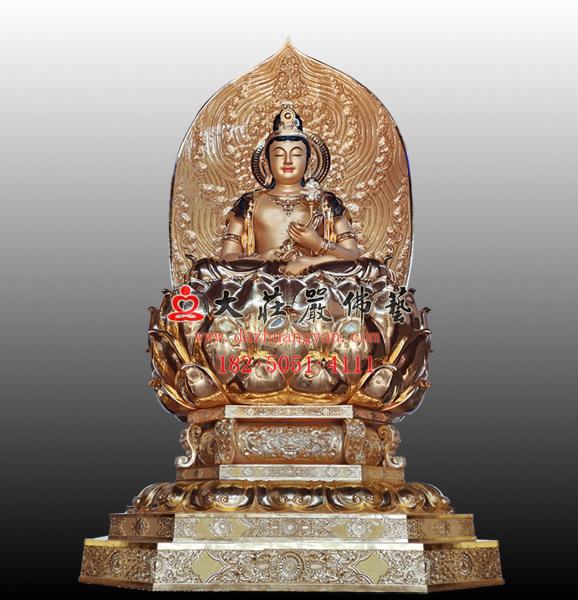 日光菩萨塑像 东方三圣佛像雕塑定制