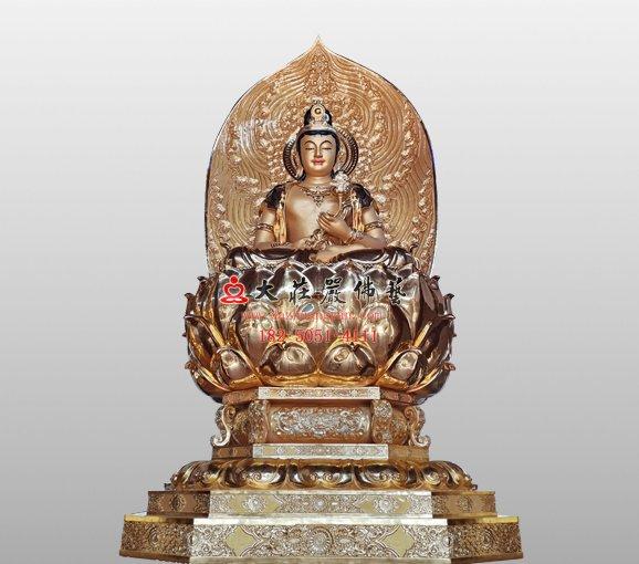 日光菩萨脱胎佛像 东方三圣佛像