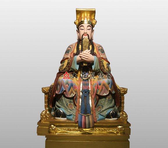 天官 三官大帝脱胎神像 道教神像