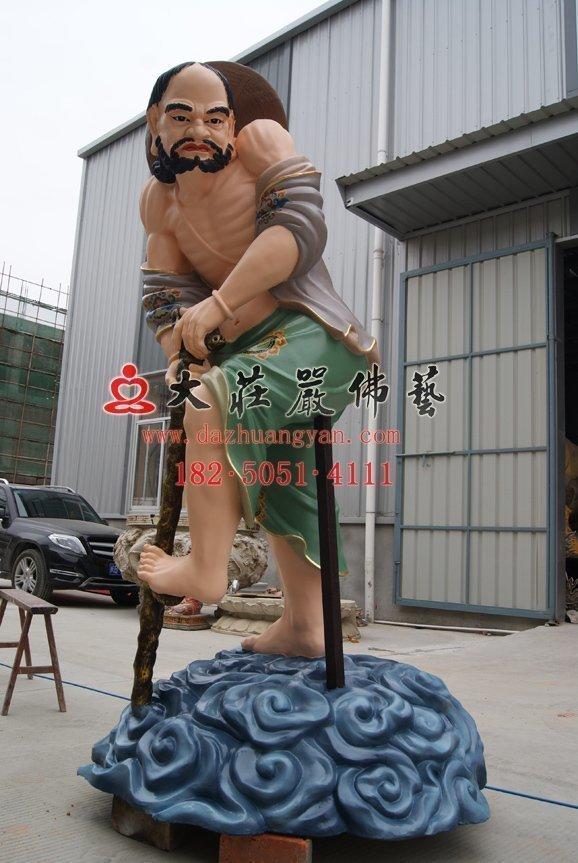 铁拐李脱胎神像