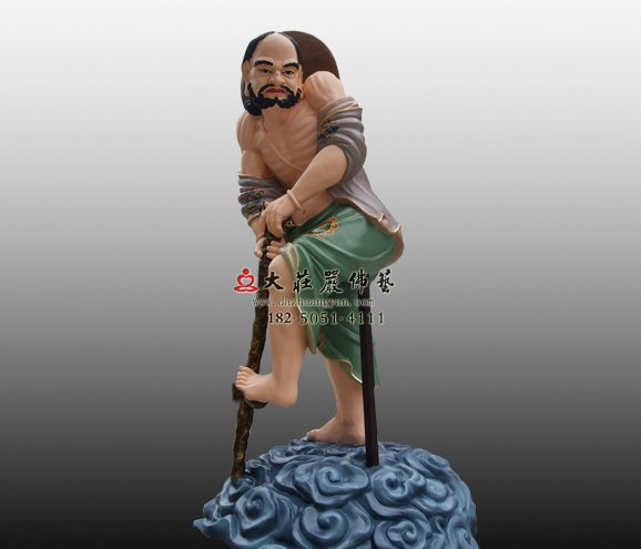 铁拐李脱胎神像 八仙神像定制