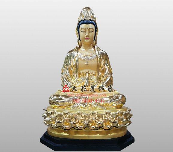脱胎观世音菩萨像 观自在菩萨 西方三圣观音菩萨脱胎佛像