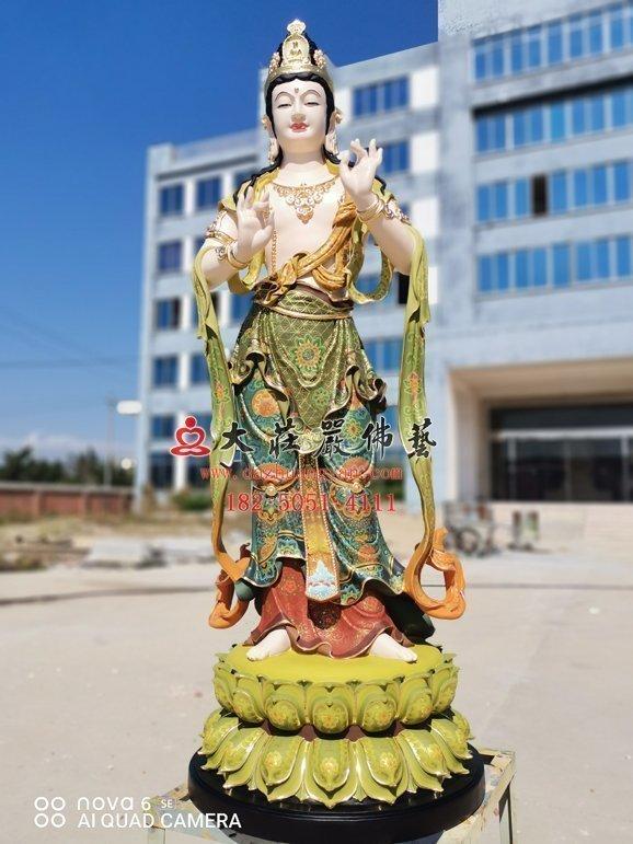 铜雕文殊菩萨之胁侍工厂实拍