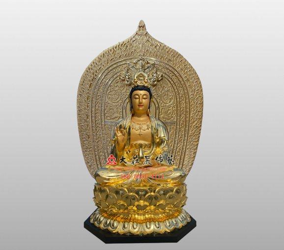 脱胎观音菩萨佛像 西方三圣观世音菩萨雕塑 观音佛像定制